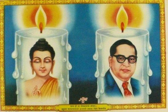 Figure 4: Dalit art showing B.R. Ambedkar alongside the Buddha.